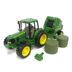 1:16 Big Farm John Deere 7330 With Bale Loader And Bale
