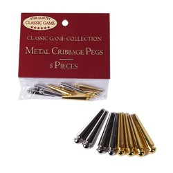 Metal Cribbage Pegs - 8 Pegs in a Bag