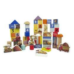 Goodnight Goodnight Construction Site 50 pc Wood Block Set