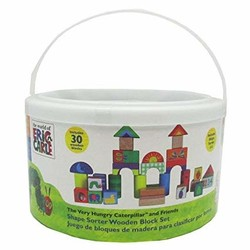 Eric Carle - Block Set - 30 pc with shape sorter lid