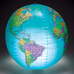 12IN Inflatable Globe w/ Light