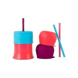 Snug Straw Lids & Cup Pink Multicolors