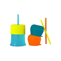 Snug Straw Lids & Cup Orange Multicolors