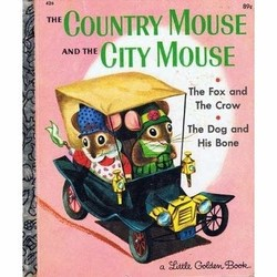 Richard Scarry's The Country Mouse and The City Mouse - A Little Golden Book