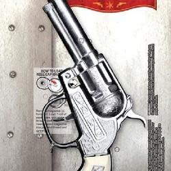 "Diecast Metal Pistol Western Cap Gun Side Loading Cap Gun 8.5"" Long"