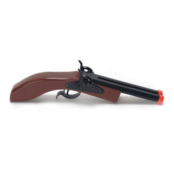 "Hex Double Barrel Wooden Pistol 10"" Long"