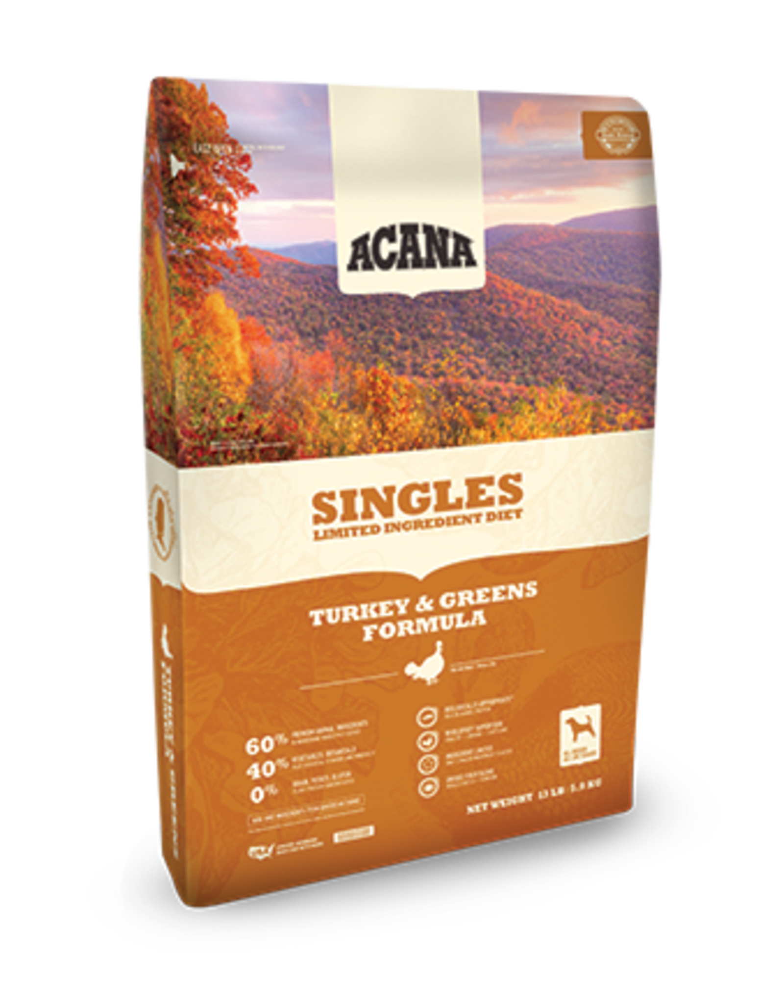 Acana Acana Singles Dog Food Turkey & Greens