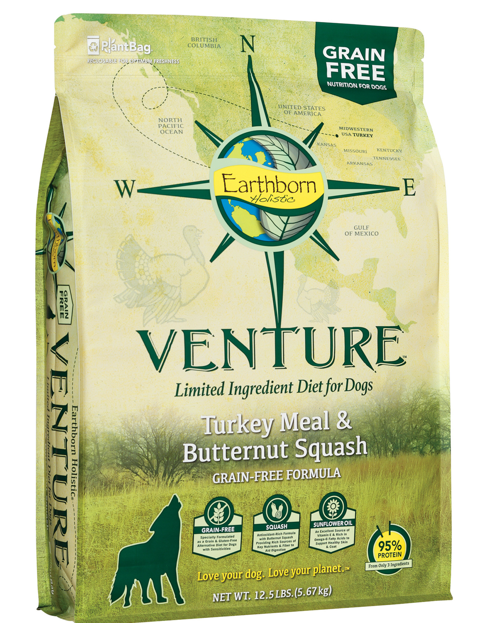 Earthborn Earthborn Venture Dog Food Turkey Meal & Butternut Squash