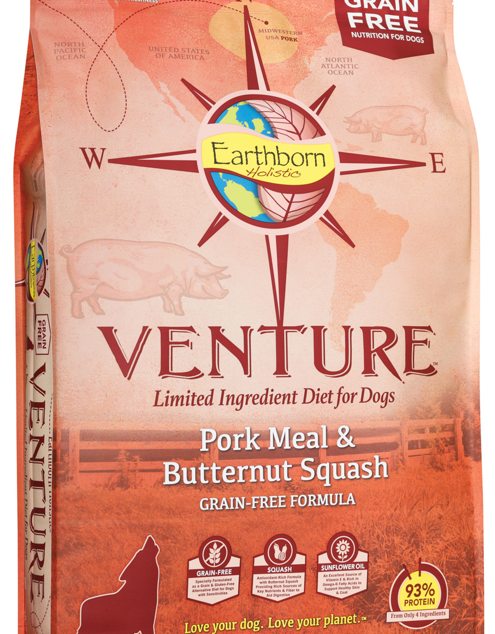 Earthborn Earthborn Venture Dog Food Pork Meal & Butternut Squash