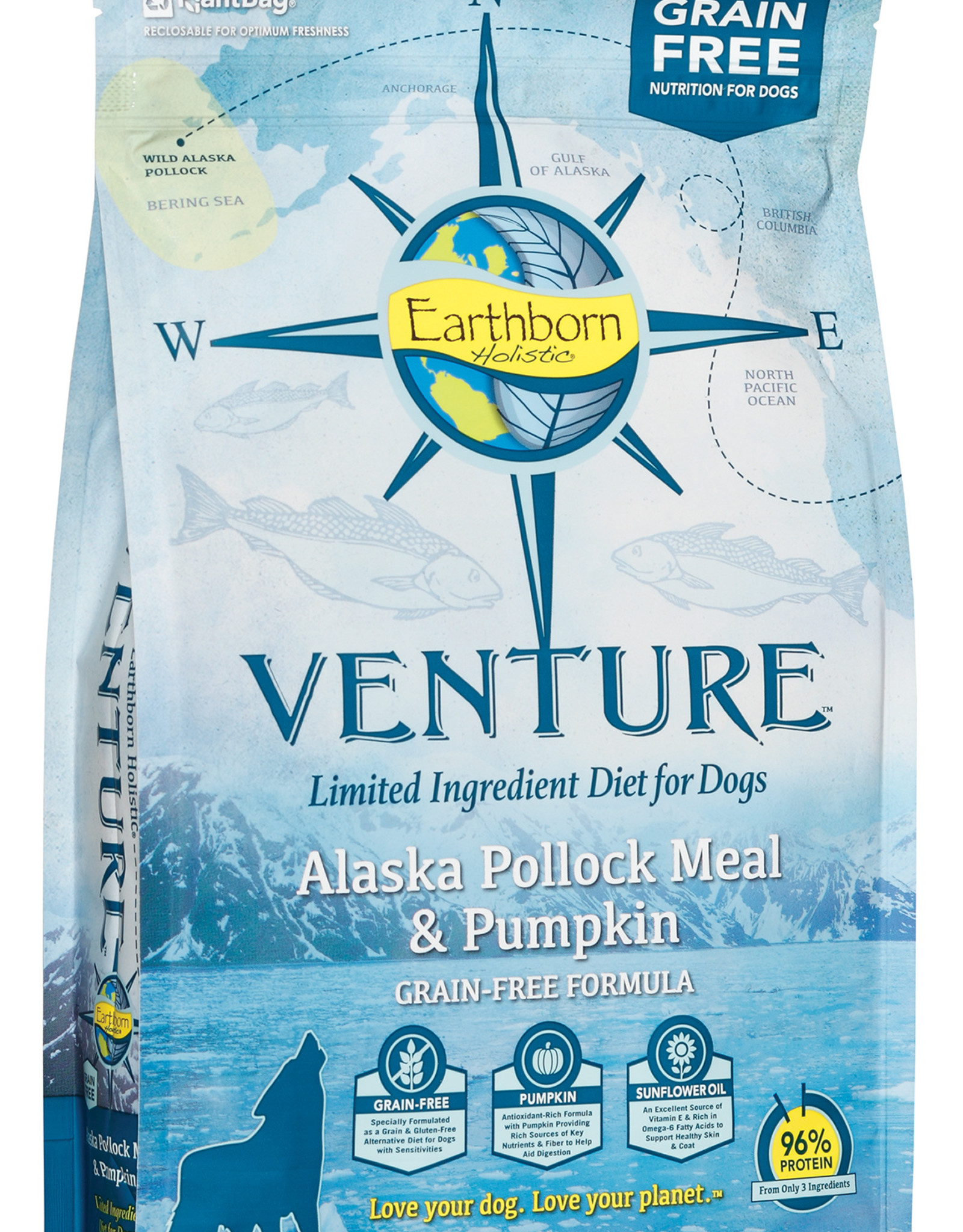 Earthborn Earthborn Venture Dog Food Alaska Pollock Meal & Pumpkin