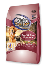 Nutrisource Dog Food Beef & Rice