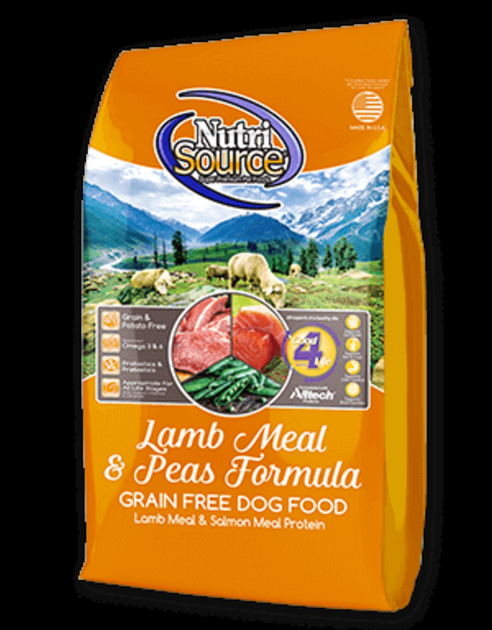 Nutrisource GF Dog Food Lamb Meal & Pea