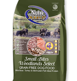 Nutrisource GF Dog Food Small Bites Woodland Select