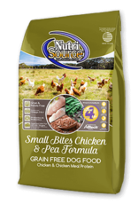 Nutrisource GF Dog Food Small Bites Chicken & Pea