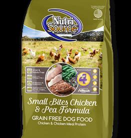 Nutrisource GF Dog Food Small Bites Chicken & Pea