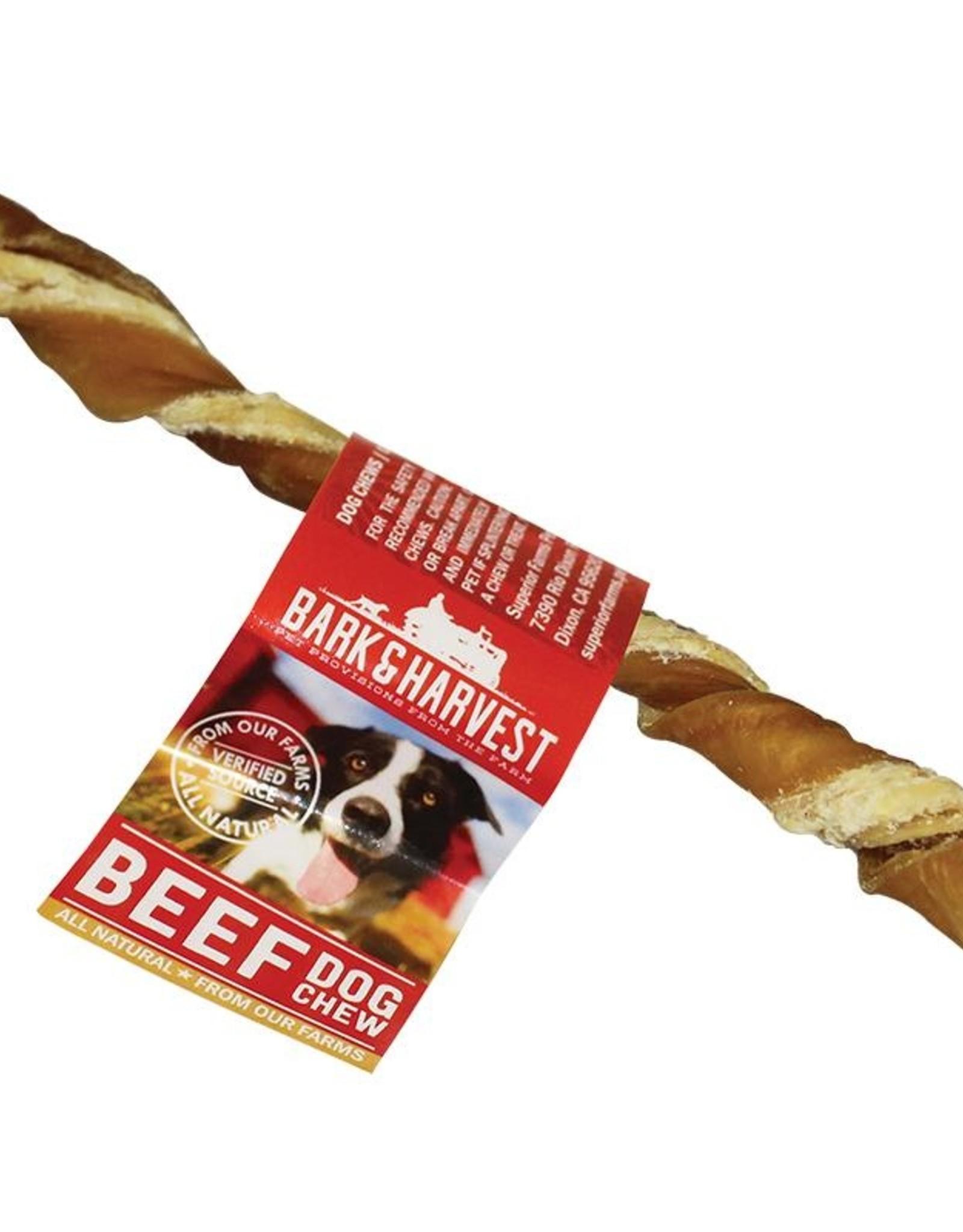 "Bark & Harvest Cow Green Tripe Twists 6"""