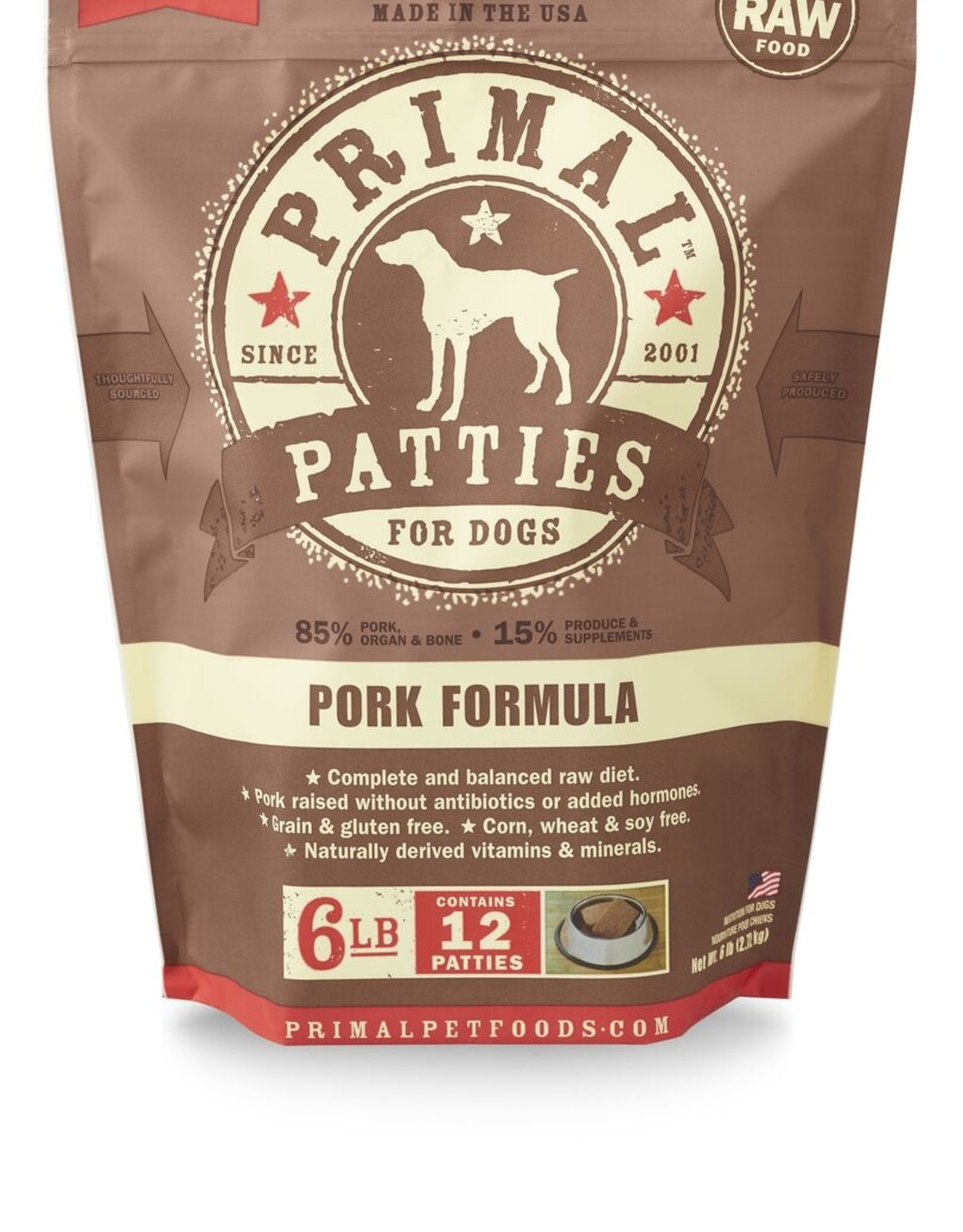 Primal Raw Frozen Canine Patties
