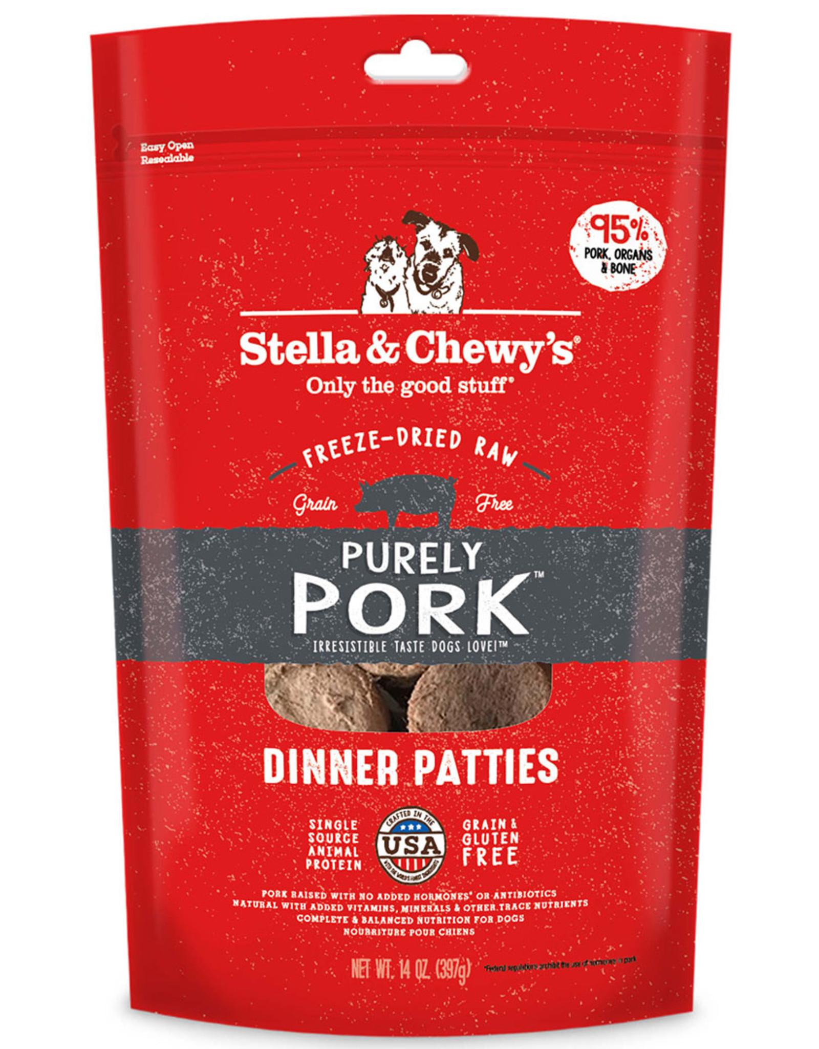 Stella & Chewy's Stella & Chewy's Freeze Dried Raw Dog Pork Patties