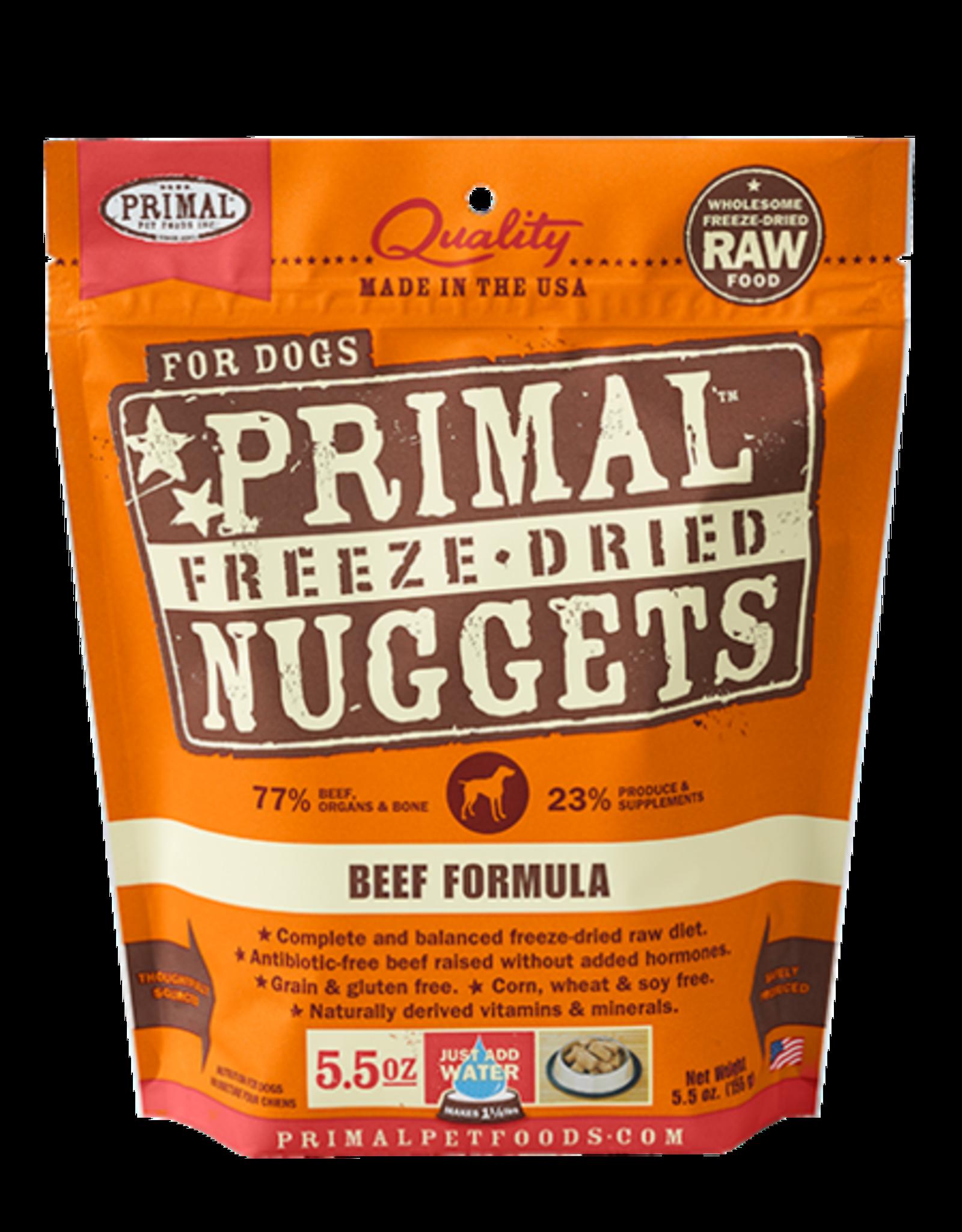 Primal Freeze Dried Raw Dog Food Beef Formula