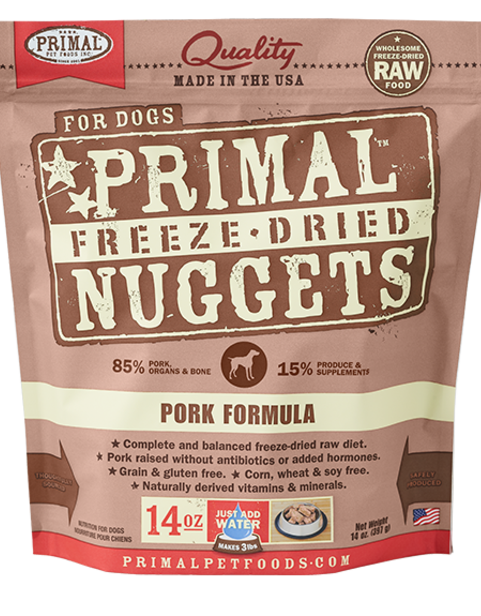 Primal Freeze Dried Raw Dog Food Pork Formula