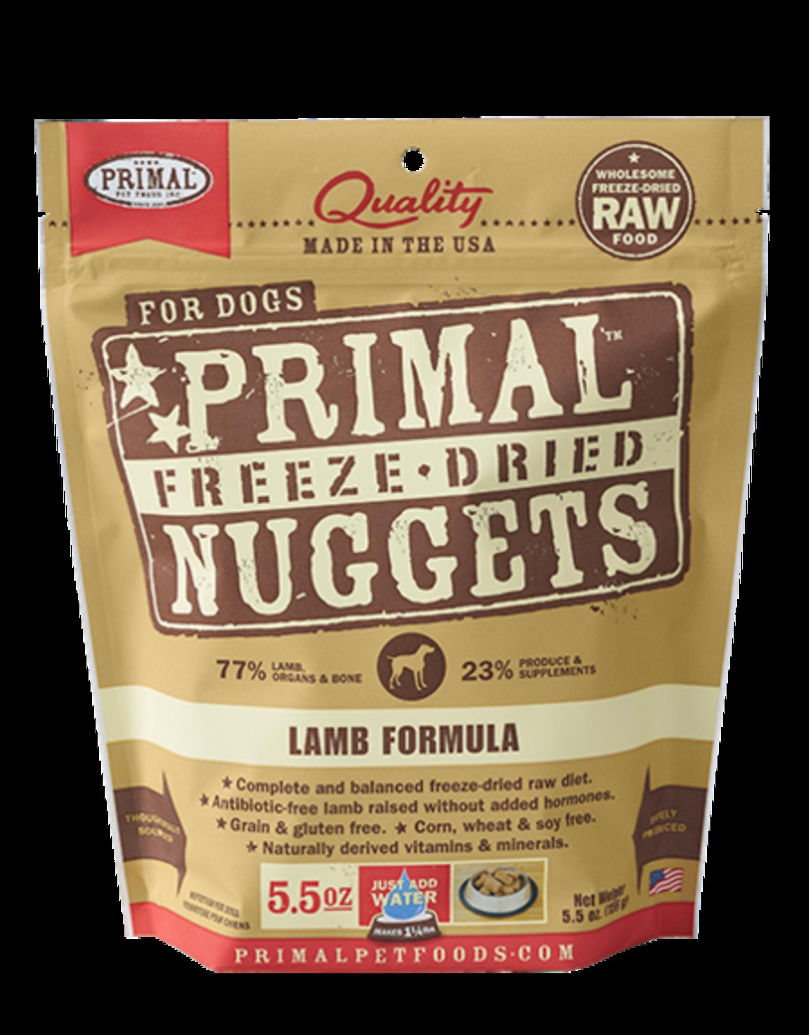 Primal Freeze Dried Raw Dog Food Lamb Formula