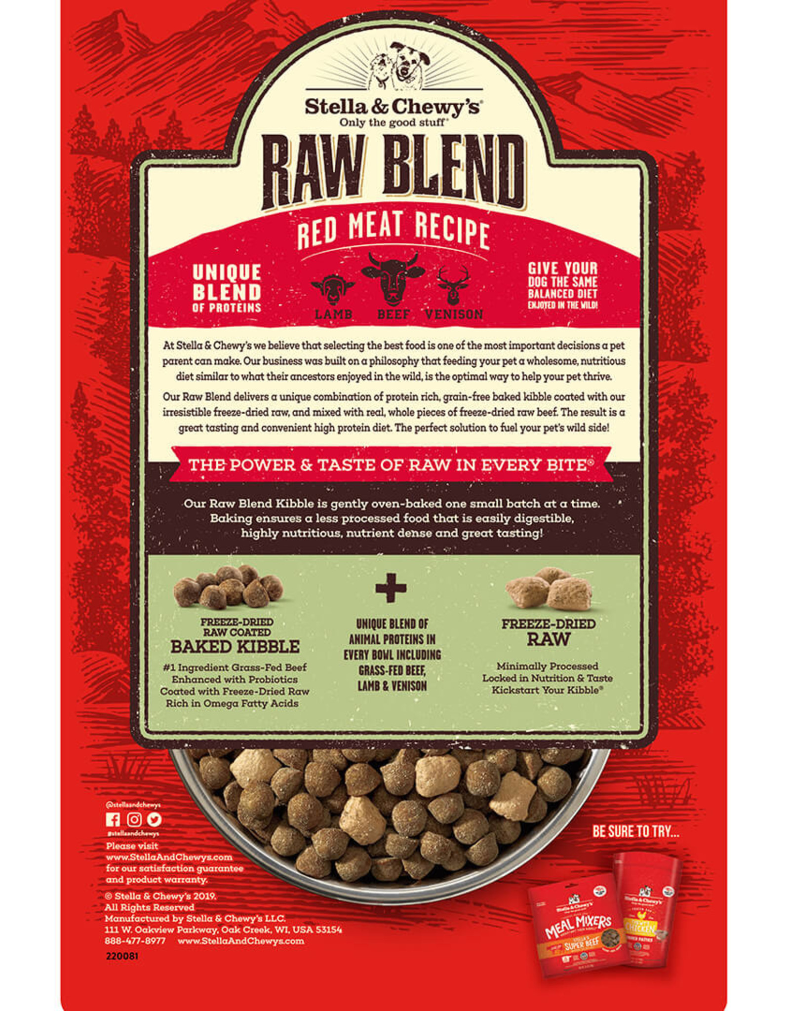 Stella & Chewy's Stella & Chewy's Red Meat Raw Blend Kibble