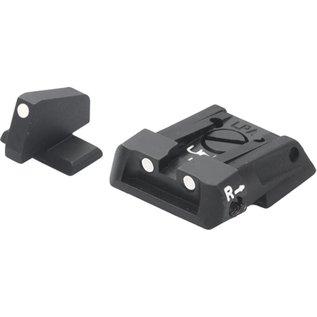 Fusion Adjustable Sight Set White Dot S&W Military & Police