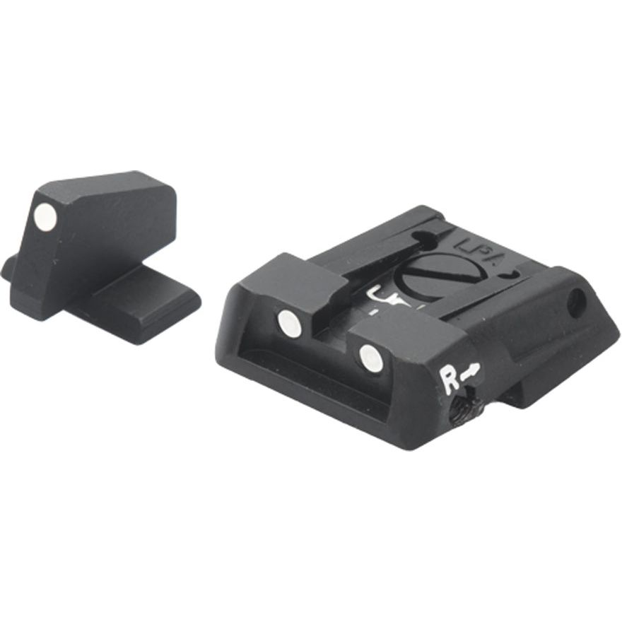 Fusion Adjustable Sight Set White Dot S&W Military & Police