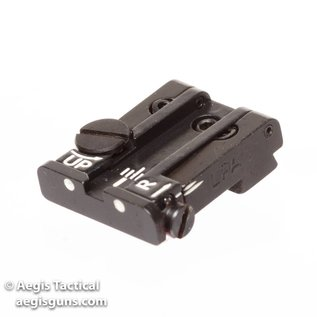 LPA GLOCK REAR ADJUSTABLE SIGHT 17-23, 25-32, 34, 35 WHITE DOT