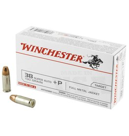Winchester WIN USA 38SUP +P 130GR FMJ 50 and box