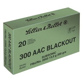 Sellier & Bellot Sellier & Bellot 300 blackout Subsonic 200gr