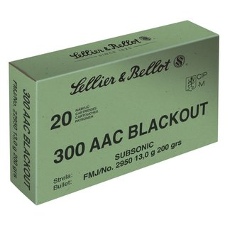 Sellier & Bellot Sellier & Bellot 300 blackout Subsonic 200gr