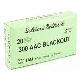 Sellier & Bellot Sellier & Bellot .300 Blackout Ammunition 20 Rounds FMJ 147 Grains