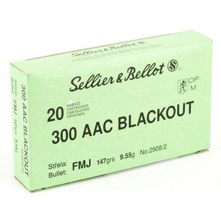 Sellier & Bellot Sellier & Bellot .300 Blackout Ammunition 20 Rounds FMJ 147 Grains