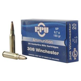 PPU PPU Standard Rifle 308 150 GR Soft Point 20 Bx