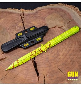 """Microtech Knives Used Microtech A.D.O. Knife Zombie Green S/E Fixed Blade (4.5"""" Plain) 116-1Z"""
