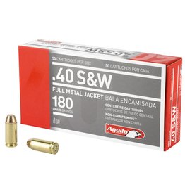 Aguila Ammunition Aguila .40 S&W FMJ 180 Grain, 1050 fps, 50 Round Box