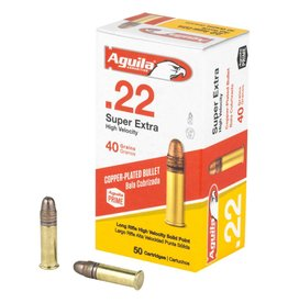 Aguila Ammunition Aguila 22lr high Velocity 40gr Copper Coated 50rnd