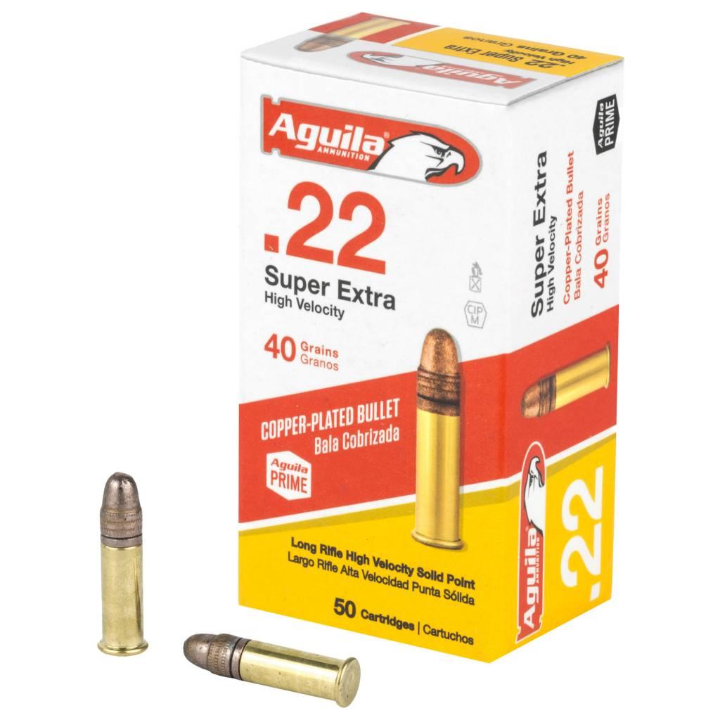Aguila Ammunition Aguila 22lr high Velocity 40gr Copper Coated 50rnd