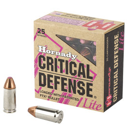 Hornady Hornady Critical Defense 9mm Luger 100 GR FTX