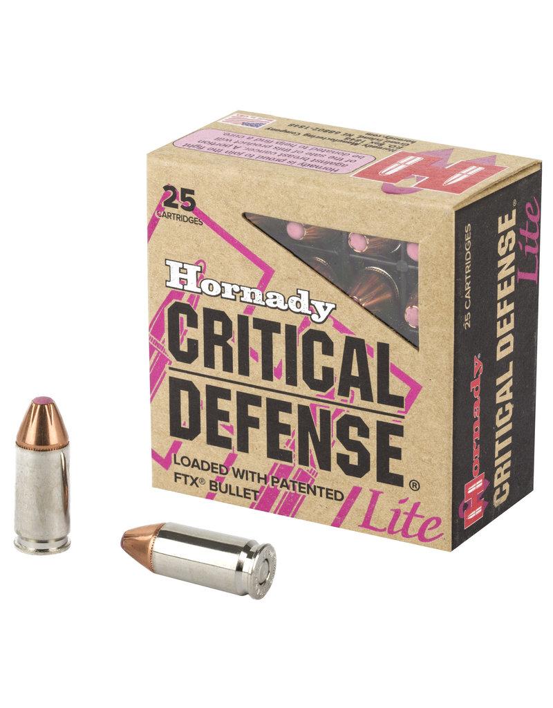 Hornady Hornady Critical Defense 9mm Luger 100 GR FTX