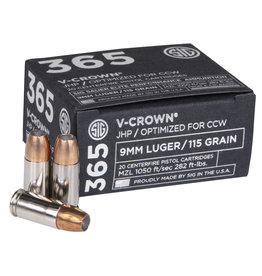 Sig Sauer SIG 365 V CROWN 9MM 115GR