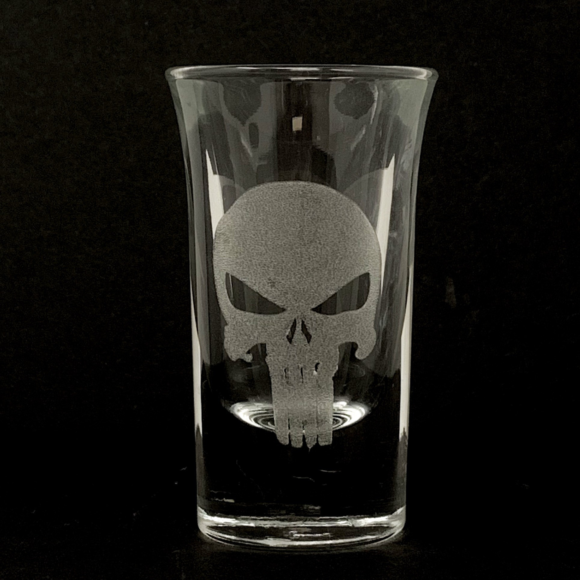 Sarasota Laser Engraving Punisher Shot Glass