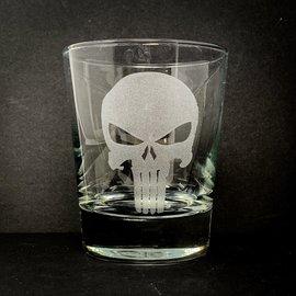 Sarasota Laser Engraving Engraved Punisher Rocks Glass
