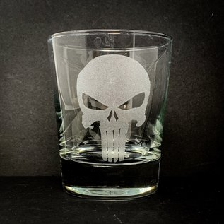 Sarasota Laser Engraving Engraved Punisher Rocks Glass