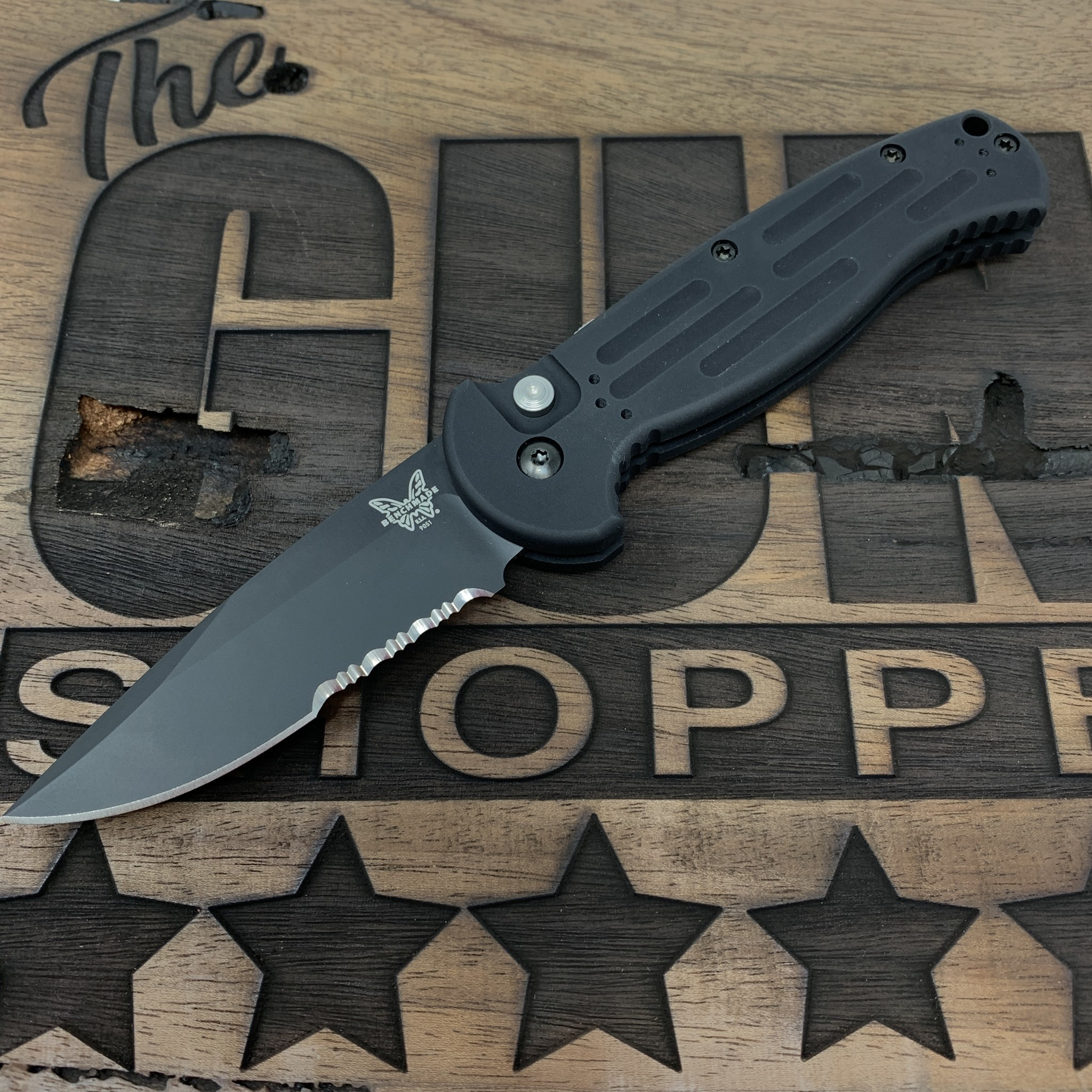 Benchmade Benchmade 9051SBK AFO II Tanto Serated Automatic Knife