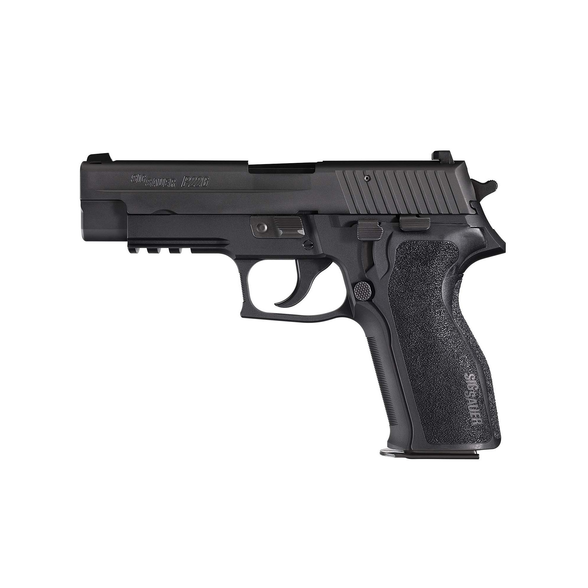 "Sig Sauer Sig Sauer P226 Semi-automatic Double Action Full 9MM 4.4"" Alloy Blue Plastic 15Rd 1 Mag Tac Rail Decocker Fixed Night Sights"