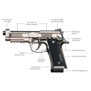 BERETTA USA BERETTA 92X PERFORMANCE 9MM