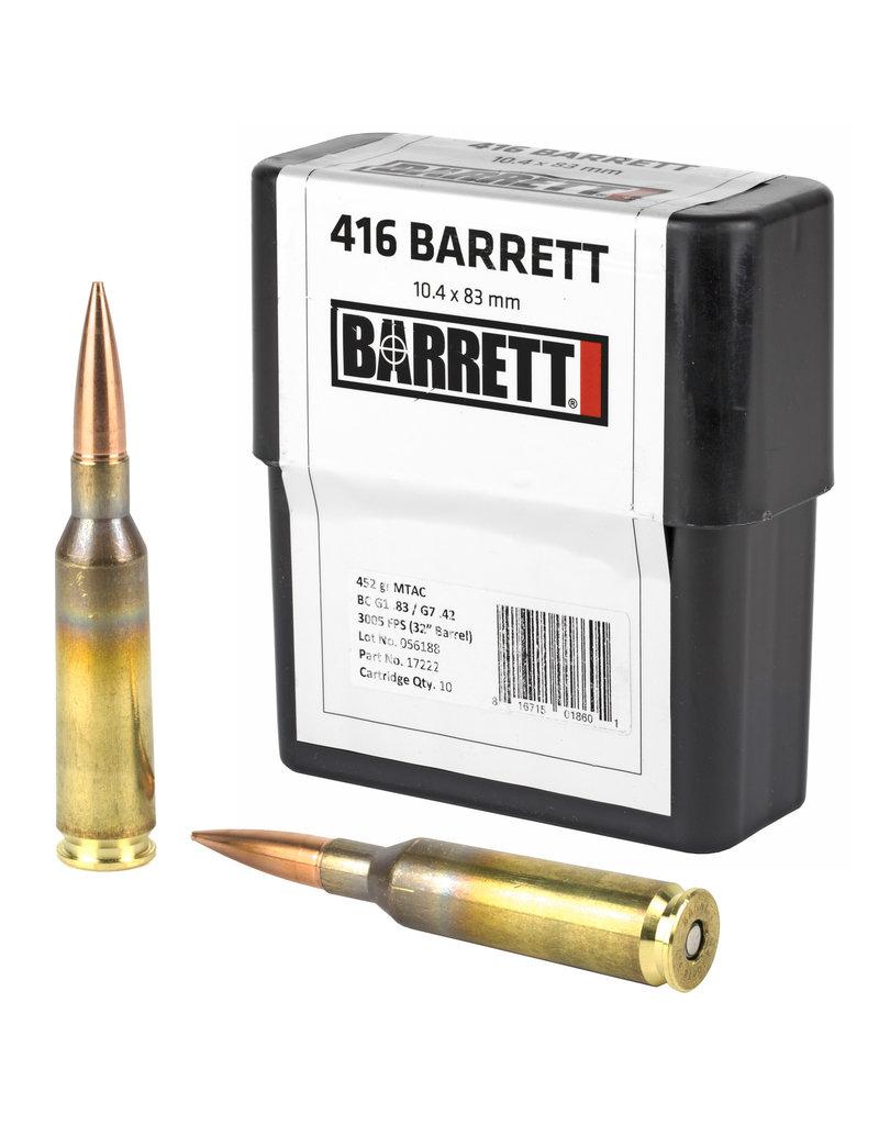 BARRETT BARRETT .416B 452GR MTAC 10RD/BX