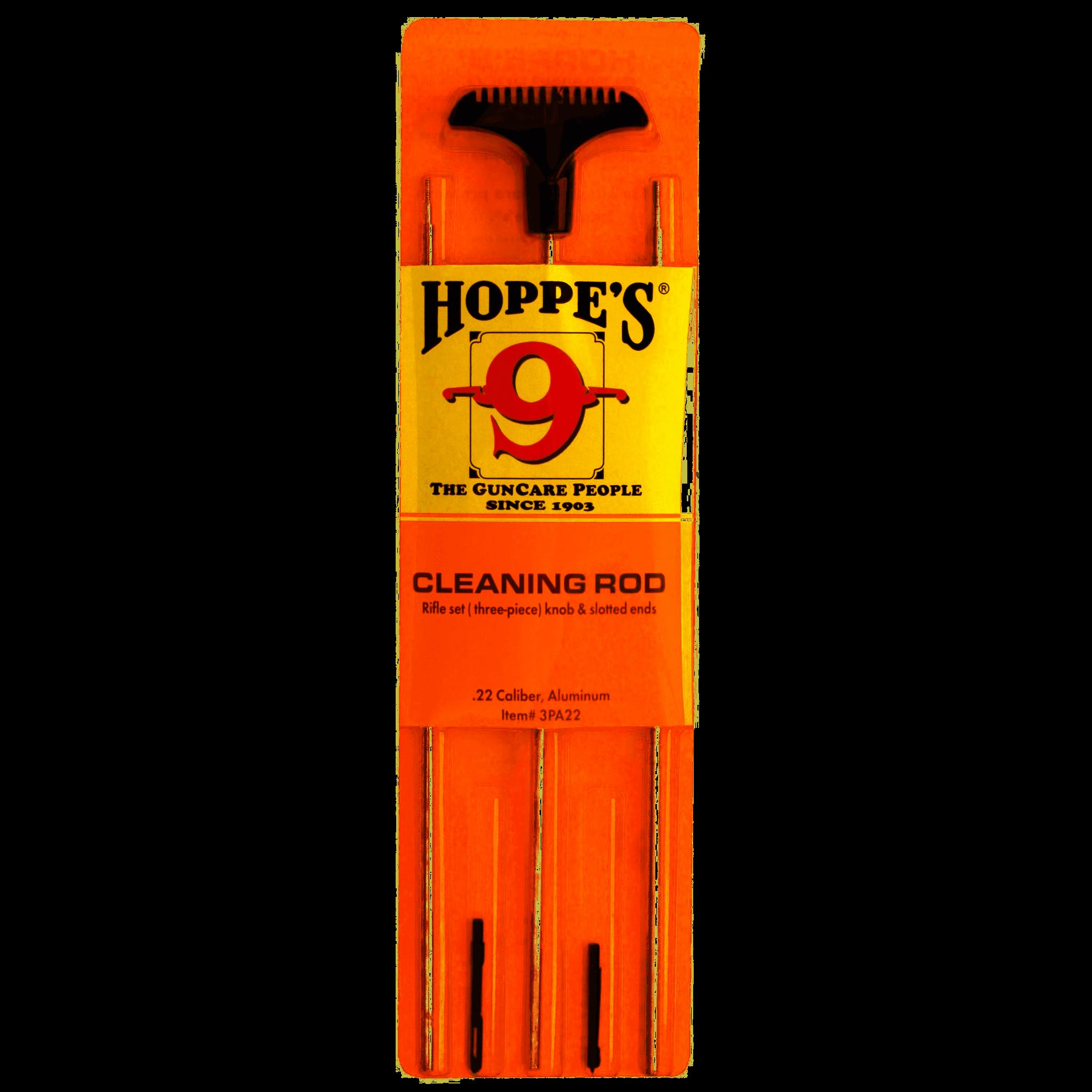 Hoppe's Hoppe's 3pc Rifle Set knob & slotted ends 22cal